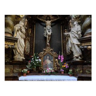 Altar en la postal de Praga