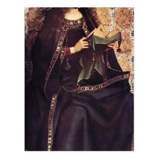 Altarpiece de enero van Eyck-The Gante, el Virgen  Postal