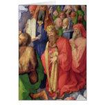 Altarpiece de Landauer: Rey David, 1511 Tarjeton