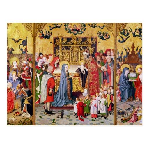 Altarpiece de las siete alegrías de la Virgen Postal