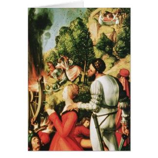 Altarpiece de Matías Grünewald- Heller (detalle) Felicitación