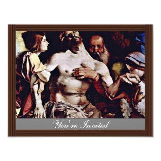 Altarpolyptychon de Recanati que corona la boa Invitación 10,8 X 13,9 Cm