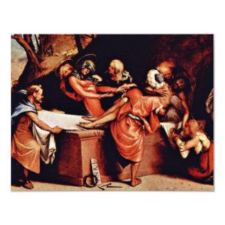 Altarpolyptychon de San Bartolomé en Bérgamo Pred Invitación 10,8 X 13,9 Cm