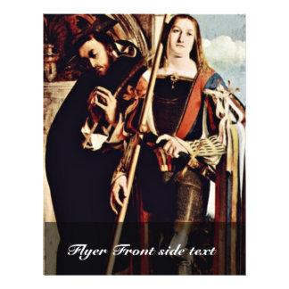 Altarpolyptychon la derecha de Recanati: San Pedro Folleto 21,6 X 28 Cm