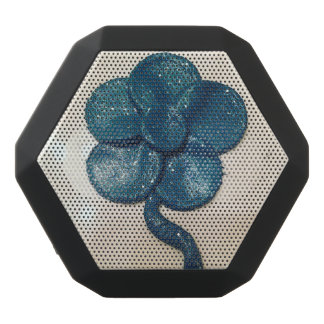 Altavoz azul de la flor