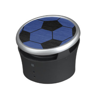 Altavoz azul del balón de fútbol