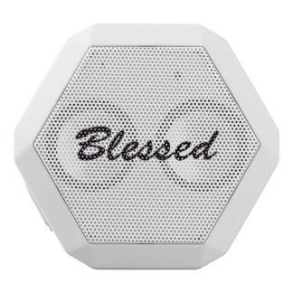 Altavoz Blanco Con Bluetooth Bendecido