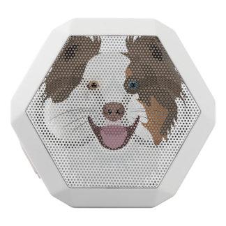 Altavoz Blanco Con Bluetooth Border collie feliz de la cara de los perros del
