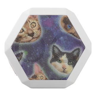 Altavoz Blanco Con Bluetooth cara del gato - gato - gatos divertidos - espacio