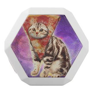 Altavoz Blanco Con Bluetooth Pizza del gato - espacio del gato - memes del gato