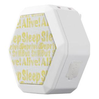 Altavoz Blanco Con Bluetooth Sueño privado pero aún vivo en amarillo