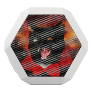 Altavoz Blanco Con Bluetooth vampiro del gato - gato negro - gatos divertidos