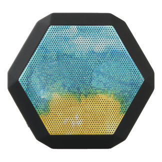 Altavoz Negro Con Bluetooth Acuarela azul/amarilla