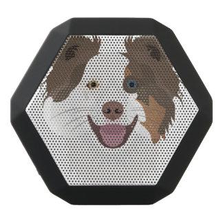 Altavoz Negro Con Bluetooth Border collie feliz de la cara de los perros del