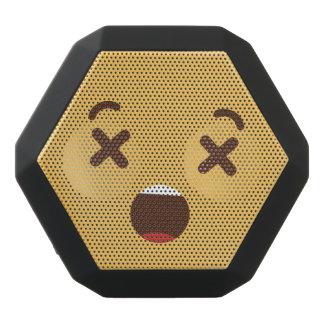 Altavoz Negro Con Bluetooth Cara sonriente divertida. Emoji. Emoticon.