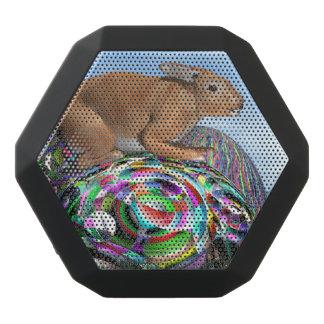 Altavoz Negro Con Bluetooth Conejo en su huevo colorido para Pascua - 3D