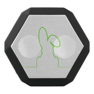 Altavoz Negro Con Bluetooth Contorno de una liebre verde clara