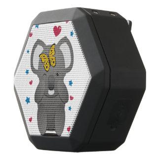 Altavoz Negro Con Bluetooth Koala y mariposa