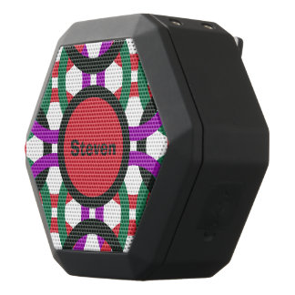 Altavoz Negro Con Bluetooth Los círculos multicolores geométricos vibrantes