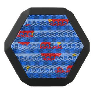 Altavoz Negro Con Bluetooth Modelo de estrellas amarillo de los corazones
