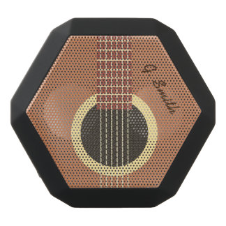 Altavoz Negro Con Bluetooth Monograma. Guitarra divertida