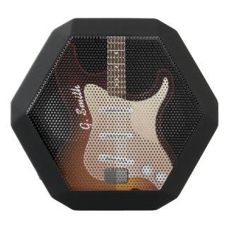 Altavoz Negro Con Bluetooth Monograma. Guitarra eléctrica divertida