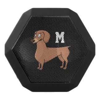 Altavoz Negro Con Bluetooth Monograma. Pequeño perro de perrito lindo