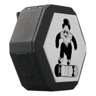 Altavoz Negro Con Bluetooth Panda que anda en monopatín