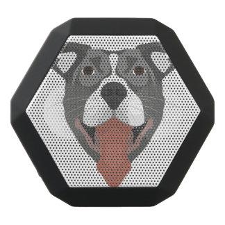 Altavoz Negro Con Bluetooth Perro Pitbull sonriente del ilustracion