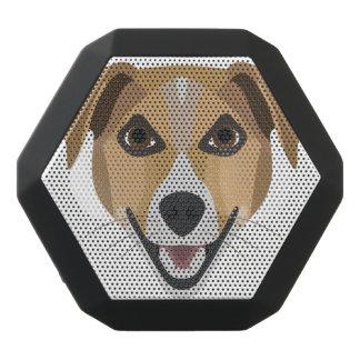 Altavoz Negro Con Bluetooth Perro Terrier sonriente del ilustracion