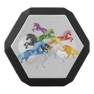 Altavoz Negro Con Bluetooth Unicornios salvajes coloridos del ejemplo