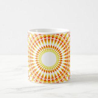 Alternativa abstracta del sol hermosa taza de café