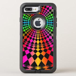Alternativa colorida del bonito de los diamantes funda OtterBox defender para iPhone 7 plus