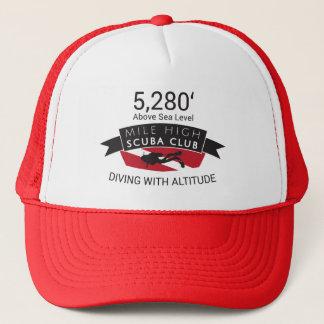 Alto gorra del club del equipo de submarinismo de