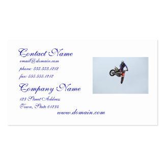 Alto motocrós del vuelo tarjetas de visita