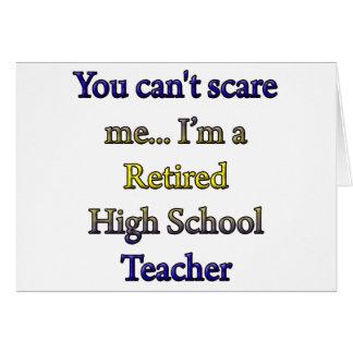 Alto profesor de escuela jubilado tarjeta de felicitación