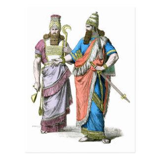 Alto sacerdote y rey asirios postal