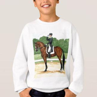 Alto, saludo en el caballo de bahía del arte del sudadera