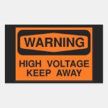 alto voltaje amonestador rectangular altavoz