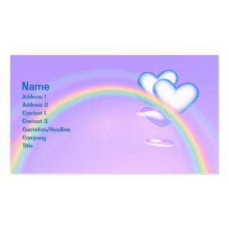 Altos corazones - negocio tarjetas de visita