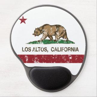 Altos del Los de la bandera del estado de Californ Alfombrilla De Raton Con Gel