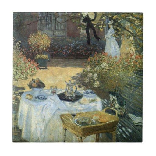 Alumerzo de Claude Monet, impresionismo del vintag Azulejo