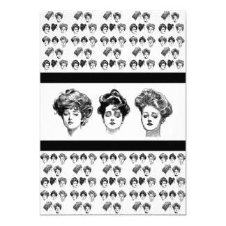 Alumerzo de las bellezas del Victorian Invitación 12,7 X 17,8 Cm