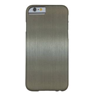 Aluminio cepillado funda para iPhone 6 barely there