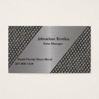Aluminio cepillado mirada metálica elegante tarjeta de negocios