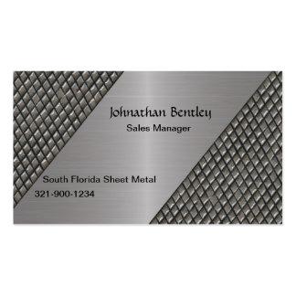 Aluminio cepillado mirada metálica elegante tarjetas de visita