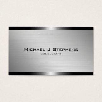 Aluminio cepillado moderno tarjeta de negocios