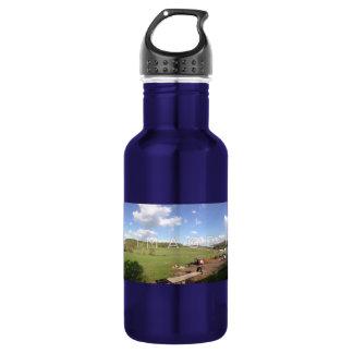 Aluminio panorámico personalizado de la foto botella de agua