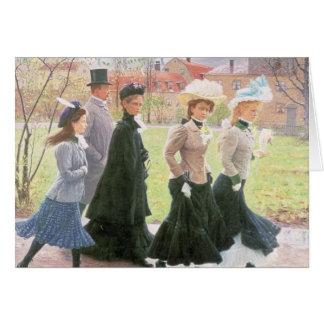 Alumnos femeninos para la confirmación tarjeta de felicitación