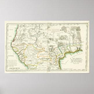 Álvarez Barriero. Mapa de nueva España. Madrid, Póster